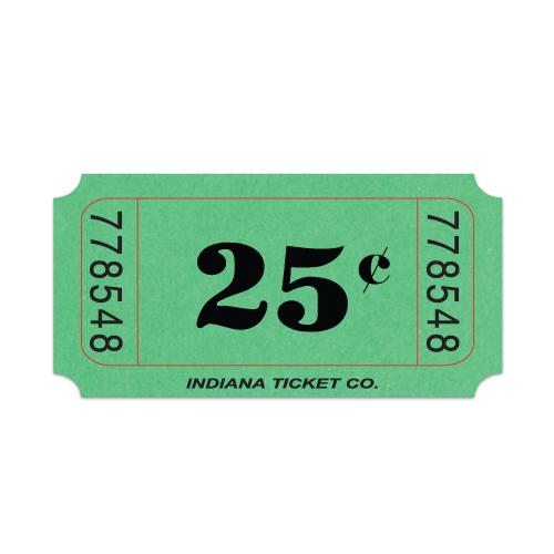 Roll-Tickets-Twenty-Five-Cents-Green