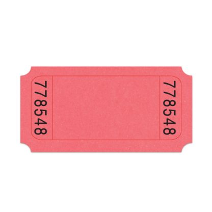 Roll Ticket No Image Pink