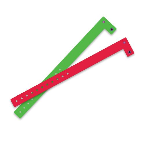 Green and Red Vinyl Wristbands